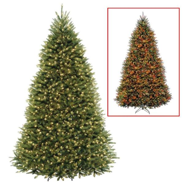 National Tree Company 10 Ft. Dunhill Fir Artificial Christmas With Dual Color Led Lights