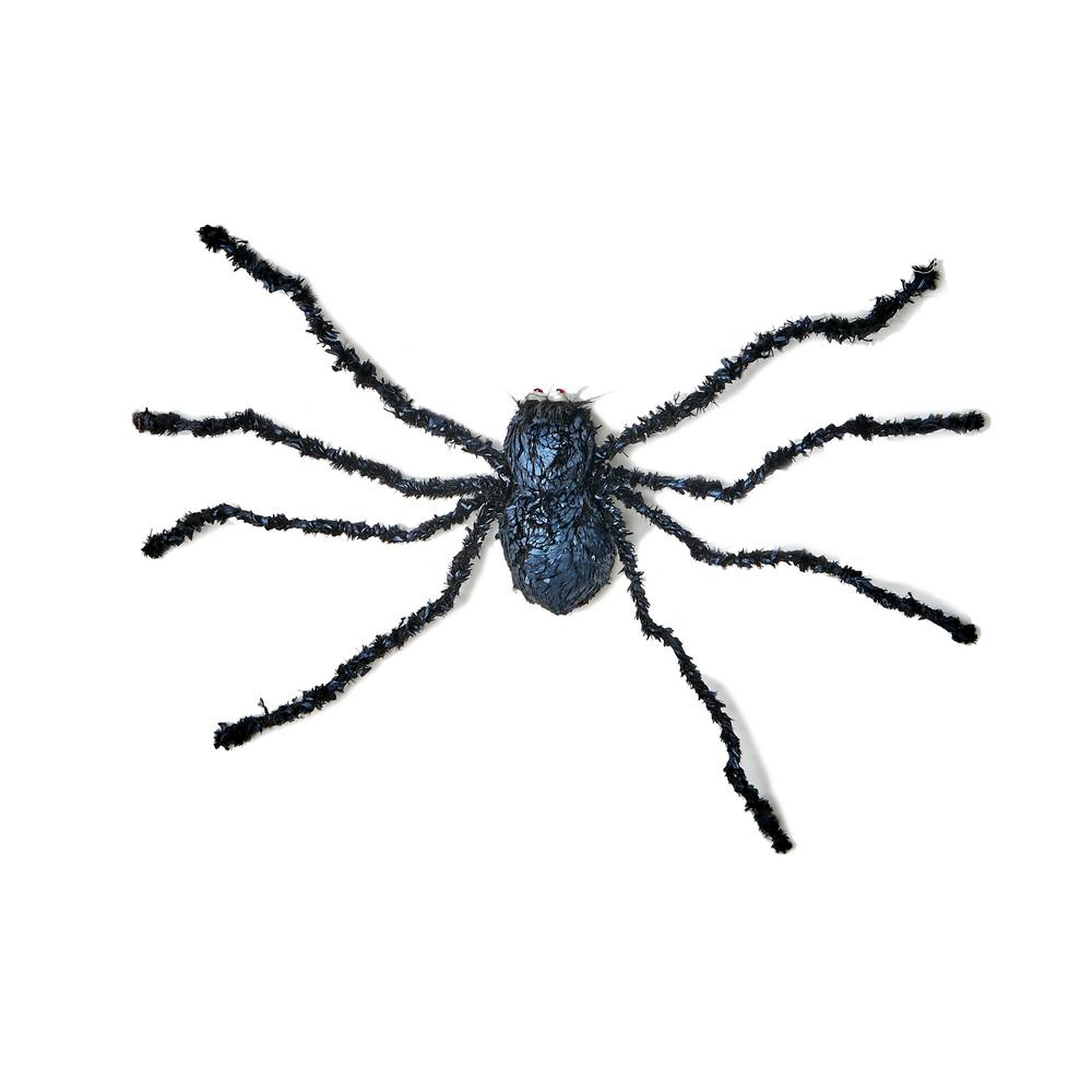 Worth Imports 32 in. Black Spider Halloween Prop(Set of 2