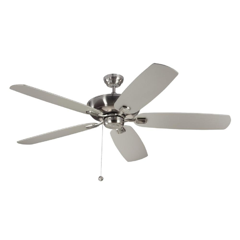 medium resolution of monte carlo colony super max 60 in brushed steel ceiling fan