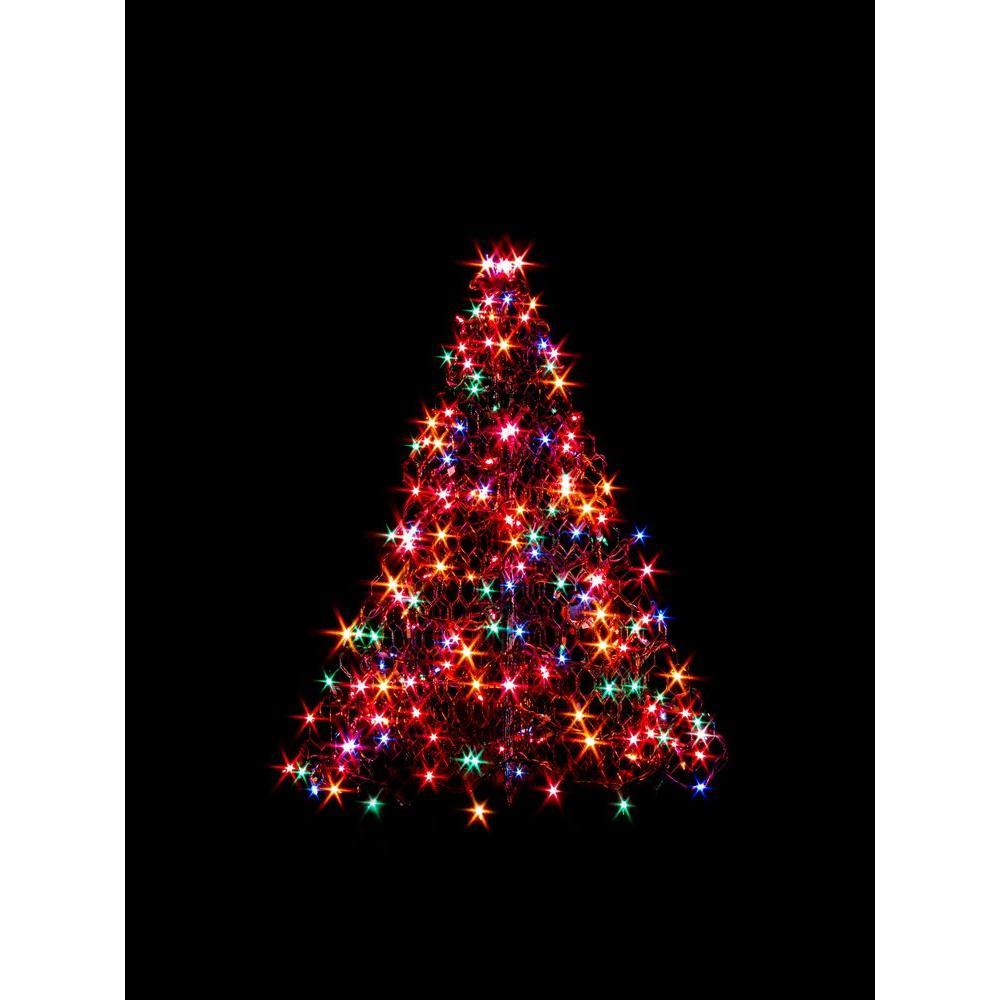 Crab Pot Trees 3 Ft Indoor Outdoor Pre Lit Incandescent Artificial Christmas Tree