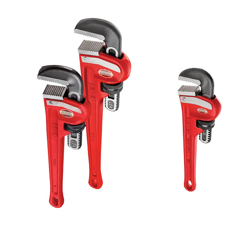 RIDGID Heavy Duty Pipe Wrench Bundle