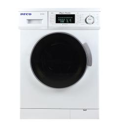 compact combo washer and electric dryer with optional condensing venting dry in white [ 1000 x 1000 Pixel ]