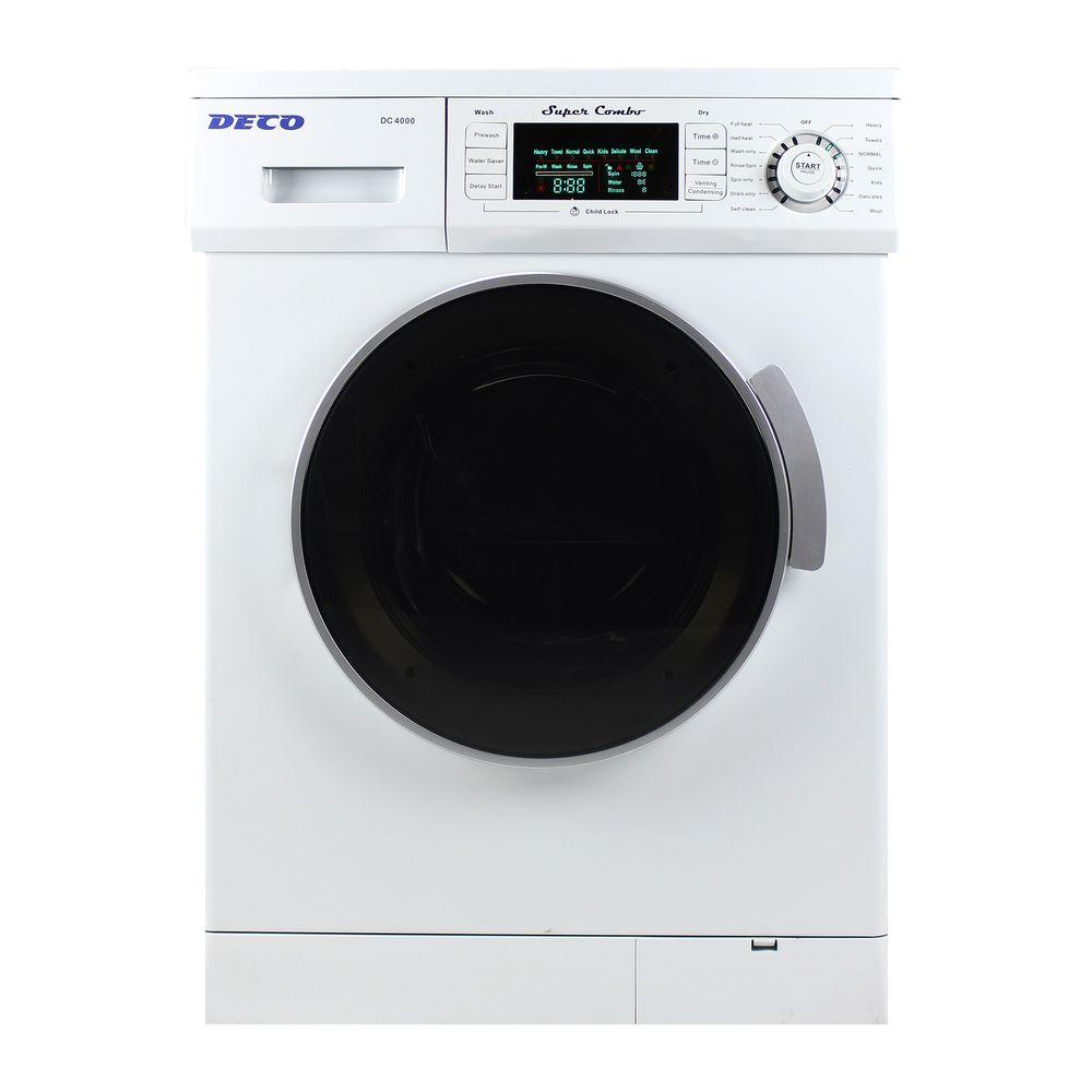hight resolution of compact combo washer and electric dryer with optional condensing venting dry in white