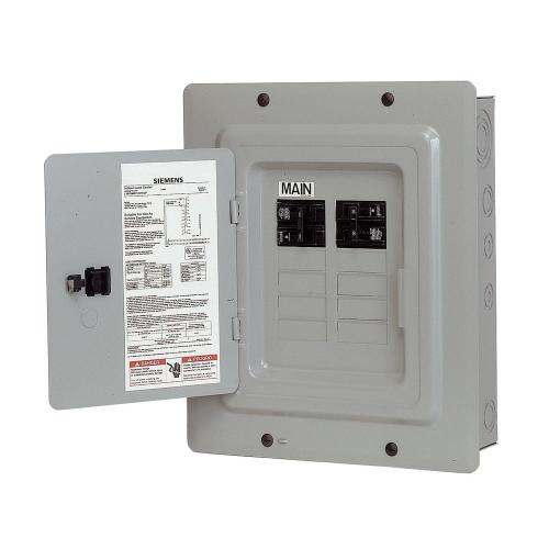 small resolution of siemens 100 amp 10 space 20 circuit main breaker load center renovation value