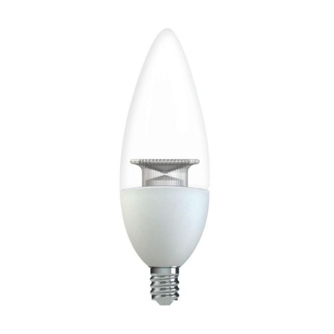 Ge 60w Equivalent Daylight B11 Blunt Tip Clear Candelabra Base Dimmable Led Light Bulb 2