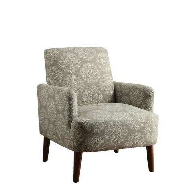 damask accent chair making covers for wedding grey gray chairs the home depot bray cherry frame in pattern