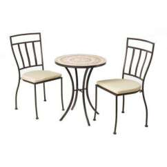 Industrial Bistro Chairs Ice Fishing Manufacturers Dining Chair Standard Height Sets 3 Piece Outdoor Set With 24 In Round Ceramic Top Table