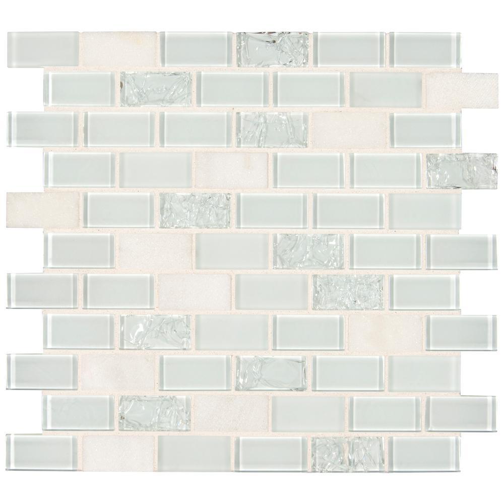 crackle tile backsplash