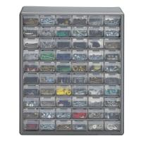 Stack-On 60-Compartment Gray Storage Cabinet for Small ...