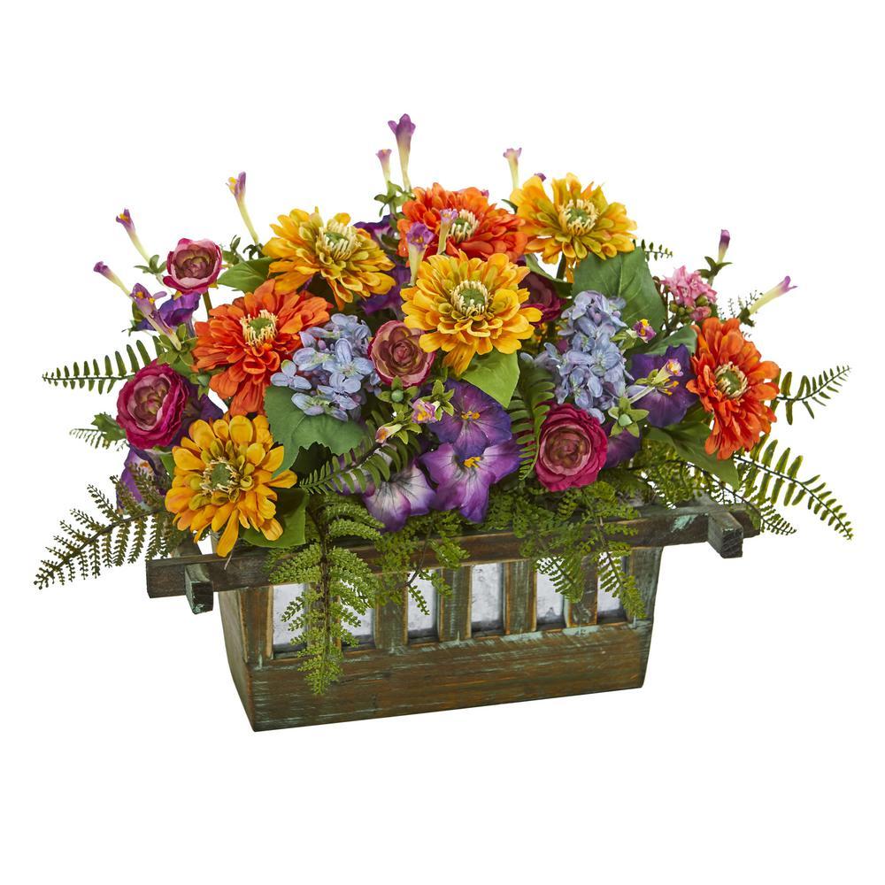 indoor mixed floral artificial