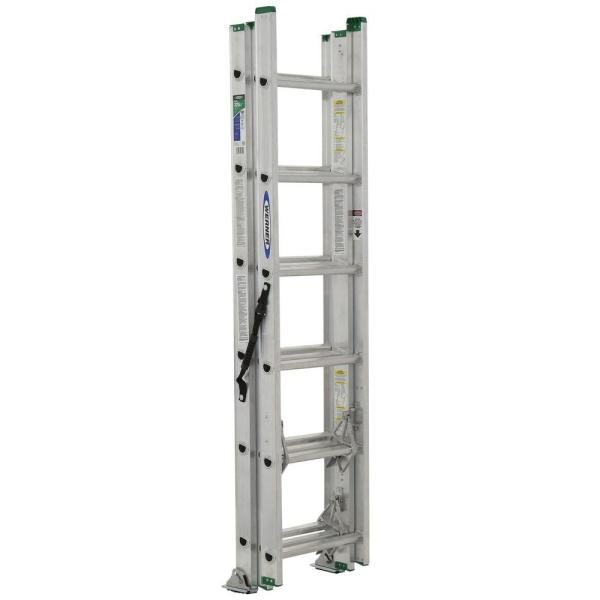 Werner 16 Ft. Aluminum Extension Ladder With 200 Lb. Load Capacity Type Iii Duty Rating-d1116-2