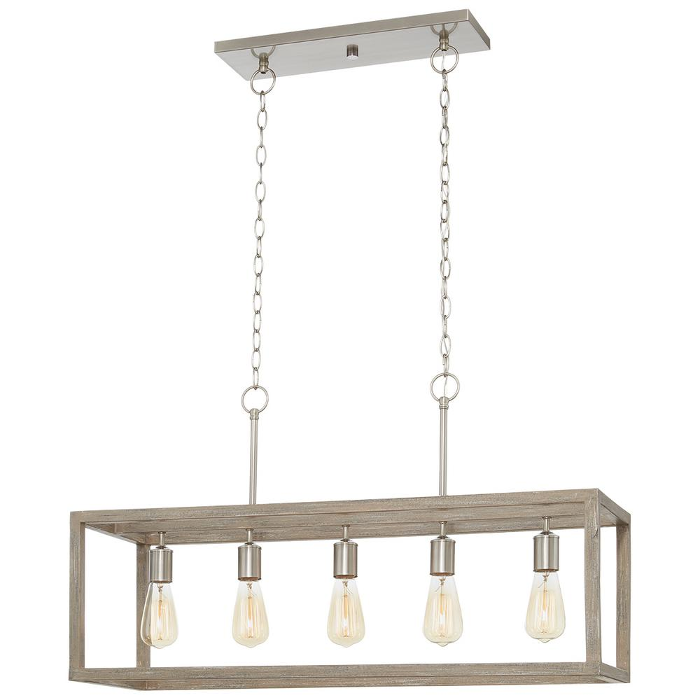 medium resolution of home decorators collection boswell quarter 5 light brushed nickel island chandelier with weathered wood accents