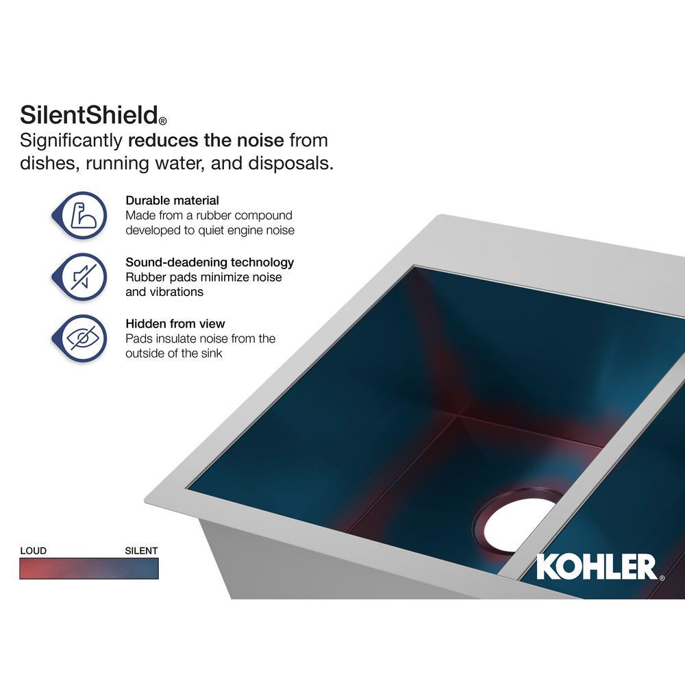 kohler vault double bowl 18 gauge