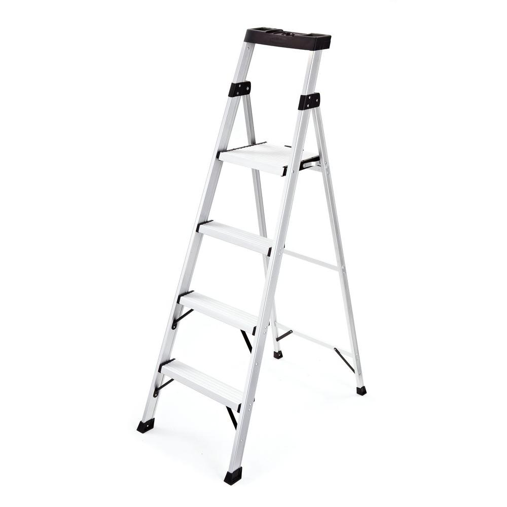 Rubbermaid 4-Step Aluminum Step Stool with 250 lb. Load