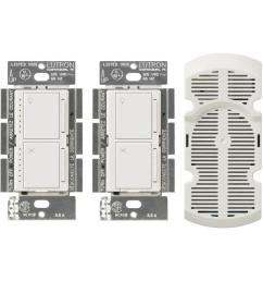 lutron maestro 1 amp multi location 7 speed combination fan and light control kit [ 1000 x 1000 Pixel ]