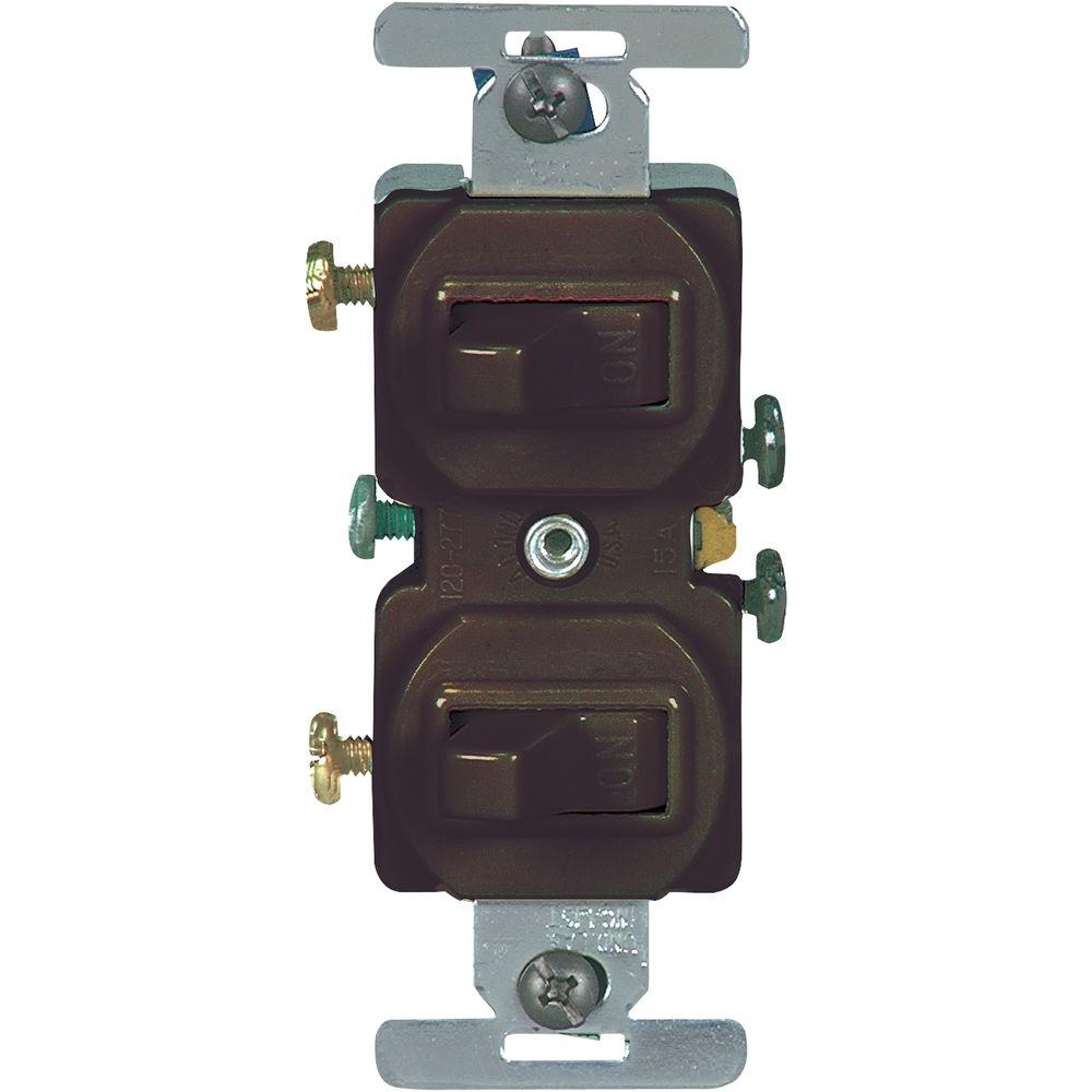 medium resolution of eaton 15 amp commercial grade toggle duplex switch brown