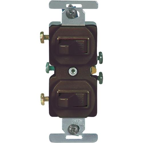 small resolution of eaton 15 amp commercial grade toggle duplex switch brown