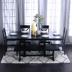 Dining Room Sets 6 Chairs 2 And Table Rattan Walker Edison Furniture Company Millwright Piece Black Set