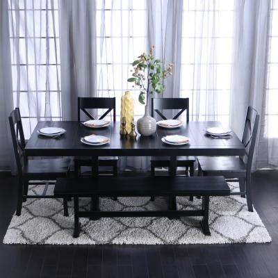 black kitchen table and chairs sweepstakes dining room sets furniture the millwright 6 piece set