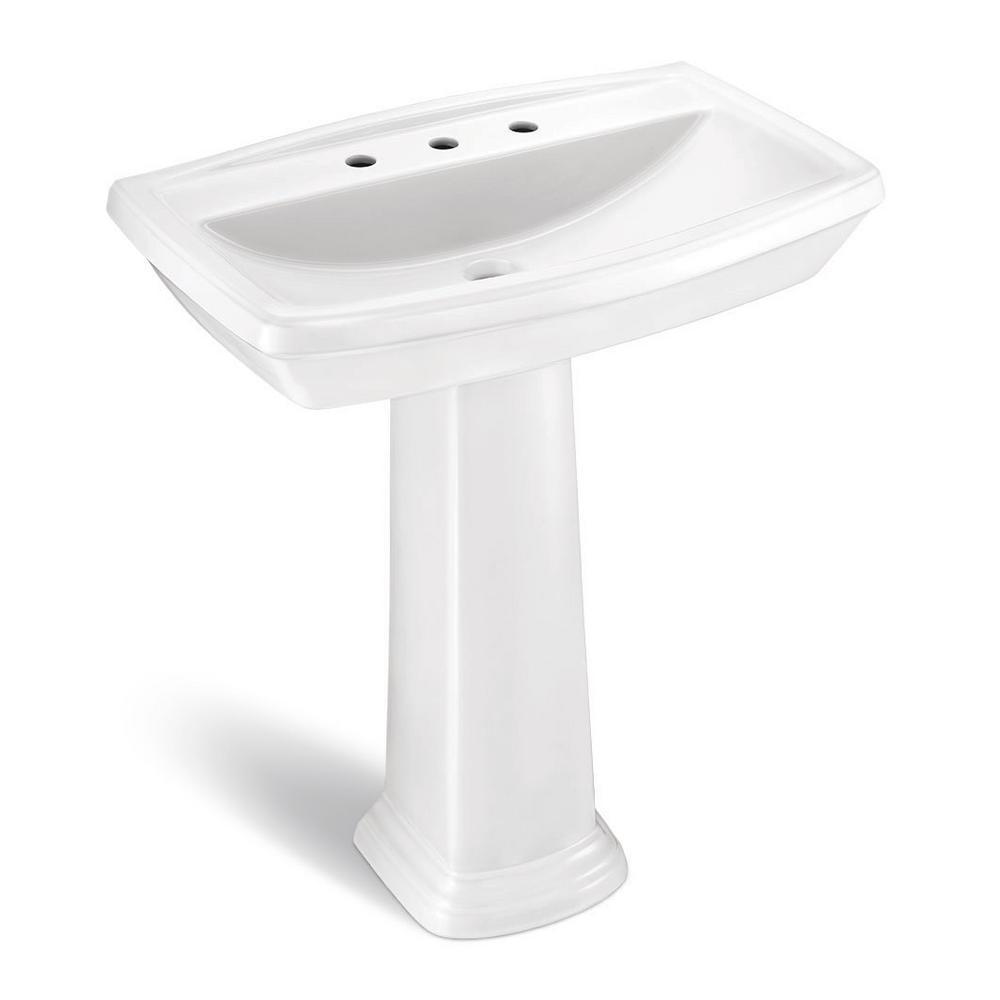 glacier bay pedestal sink installation