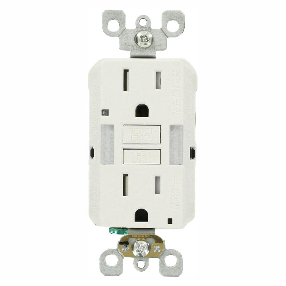 medium resolution of 15 amp self test smartlockpro combo duplex guide light and tamper resistant gfci outlet white 3 pack
