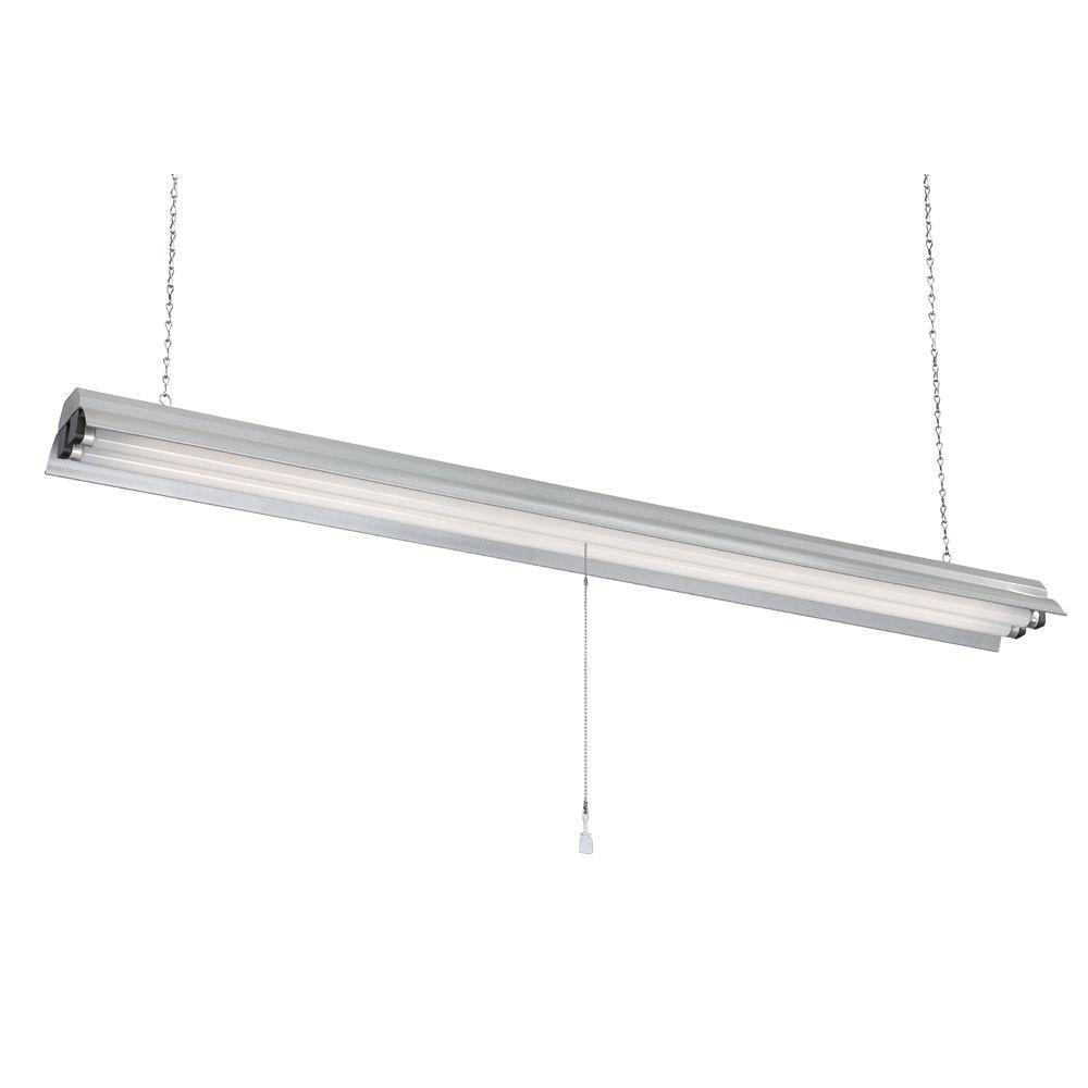 Commercial Electric 2-Light 48 in. Gray Textured