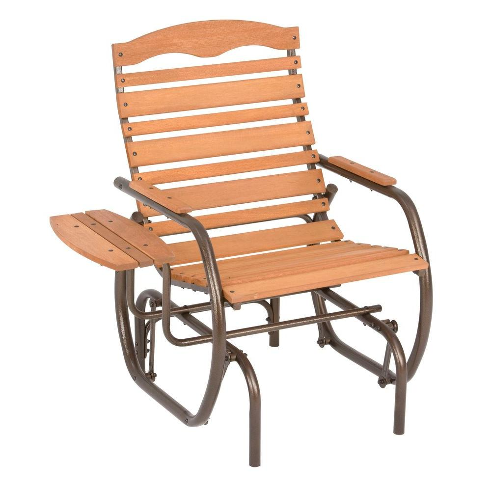 Jack Post Country Garden Natural Patio Glider Chair with