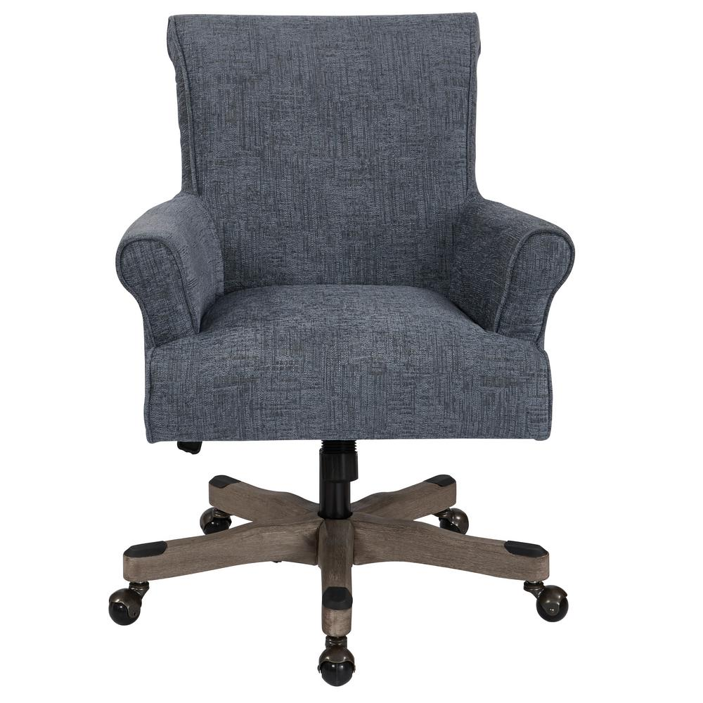 office chair fabric covers nz osp home furnishings megan navy with grey wash wood