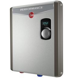 rheem performance 18 kw self modulating 3 5 gpm electric tankless water heater [ 1000 x 1000 Pixel ]