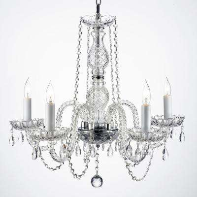 Empress Crystal 5 Light Clear Chandelier