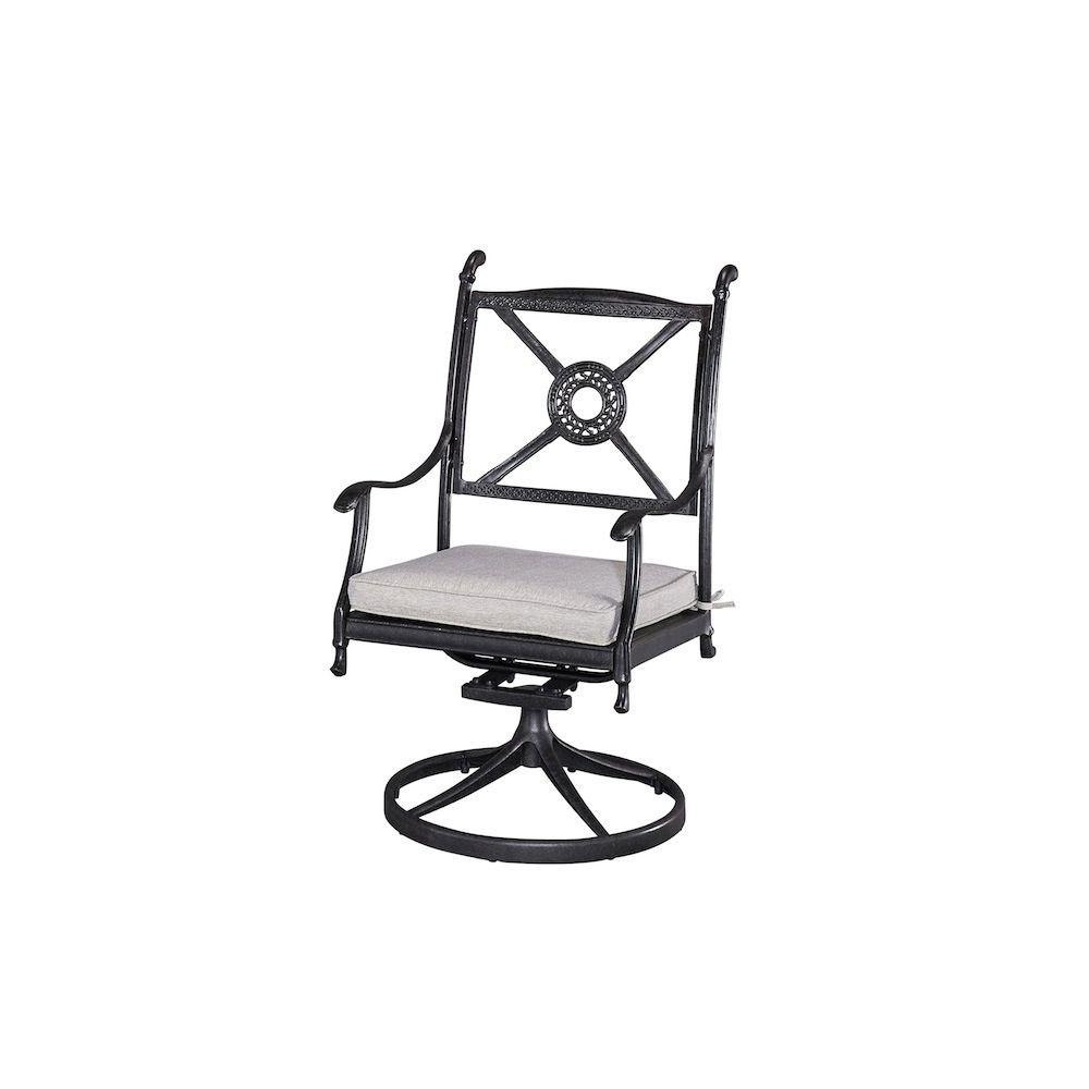 Styles Of Chairs Home Styles Athens Charcoal Patio Chair With Gray Cushion