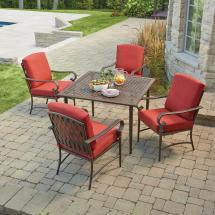 Hanover Monaco 5-piece Patio Outdoor Dining Set