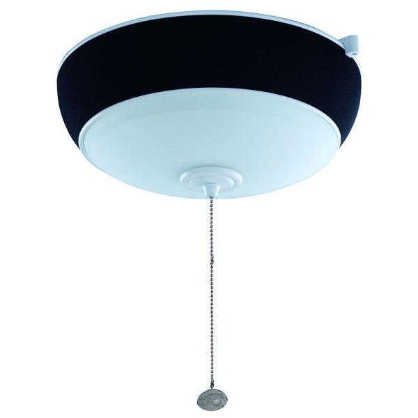 Hampton Bay 2-light Matte White Ceiling Fan Audio Light