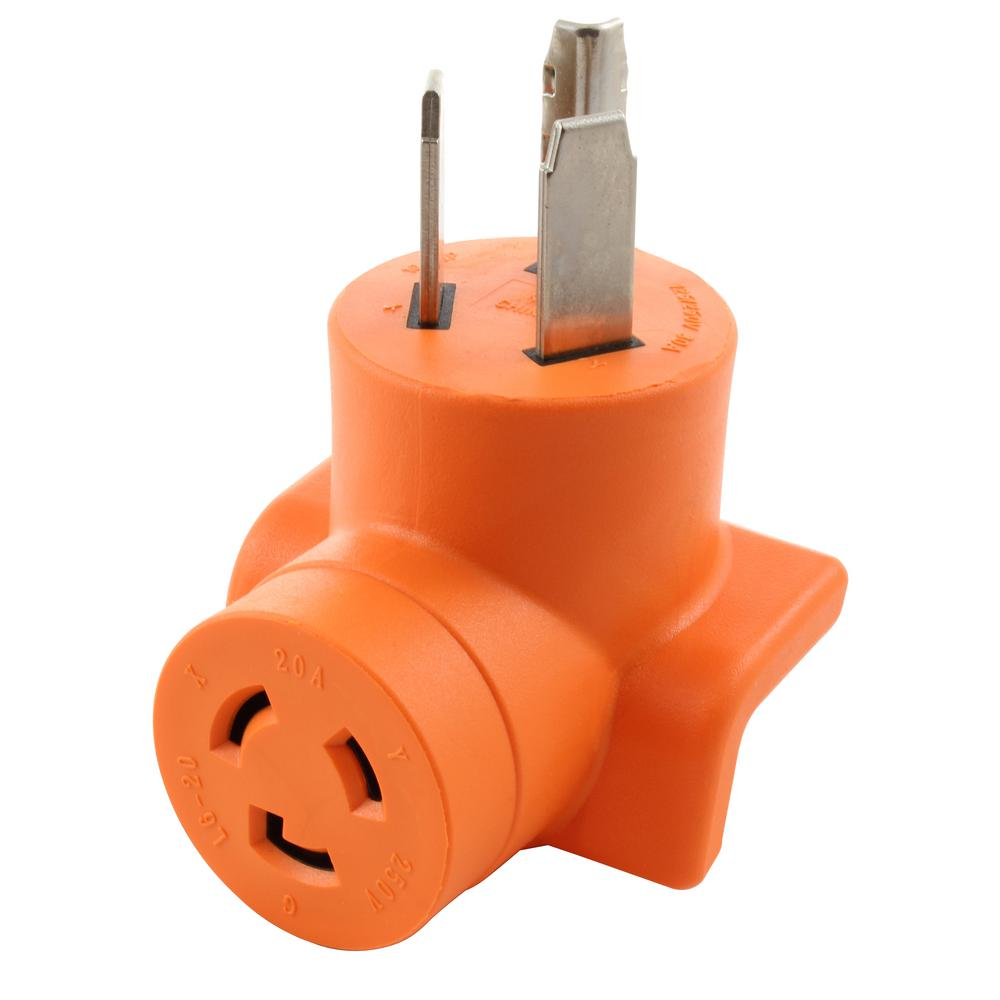 hight resolution of 30 amp 3 prong 10 30p dryer plug to l6 20r 20 amp 250 volt locking female adapter