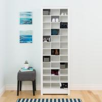 Prepac White Space-Saving Shoe Storage Cabinet-WUSR-0009-1 ...