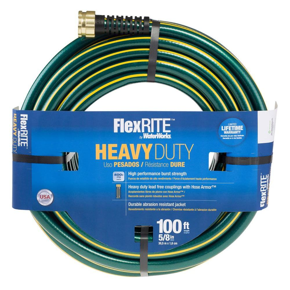 medium resolution of flexrite 5 8 in dia x 100 ft water hose
