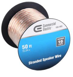 commercial electric 50 ft 16 gauge stranded speaker wire y280730 home speaker wire size 16 gauge [ 1000 x 1000 Pixel ]
