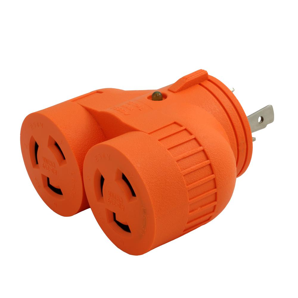 medium resolution of ac works ac works industrial v duo outlet adapter l6 30p 30 amp 3