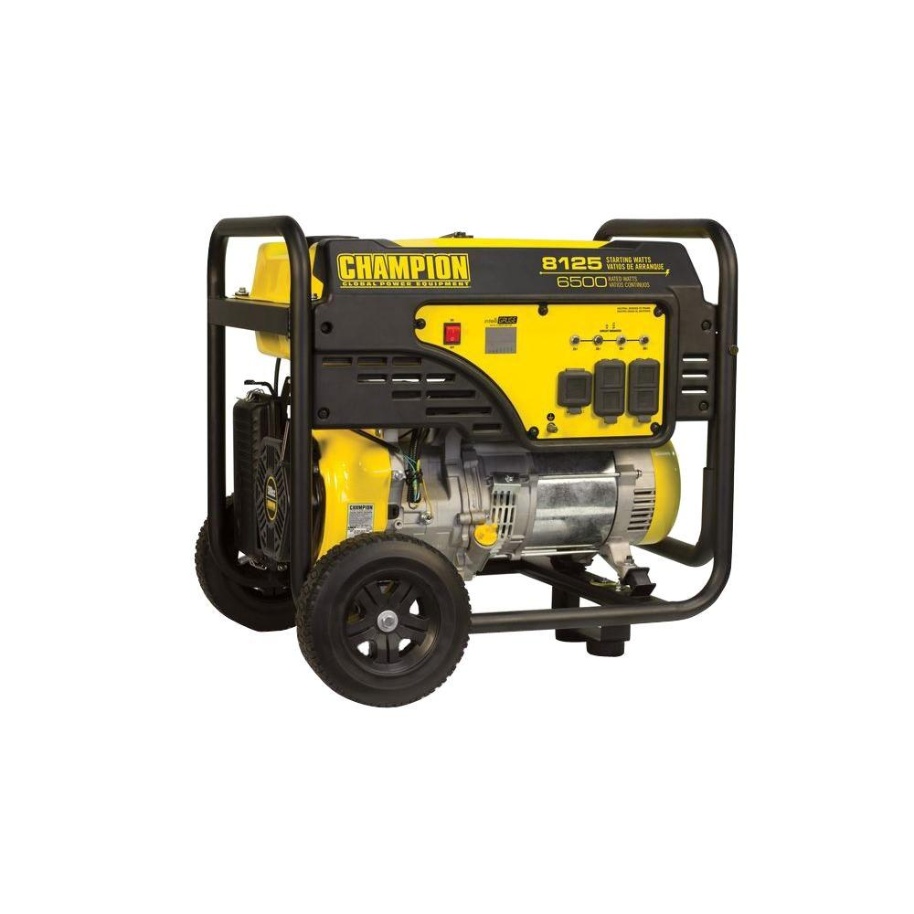 medium resolution of champion power equipment 6500 watt gasoline powered manual start portable generator with 389 cc ohv