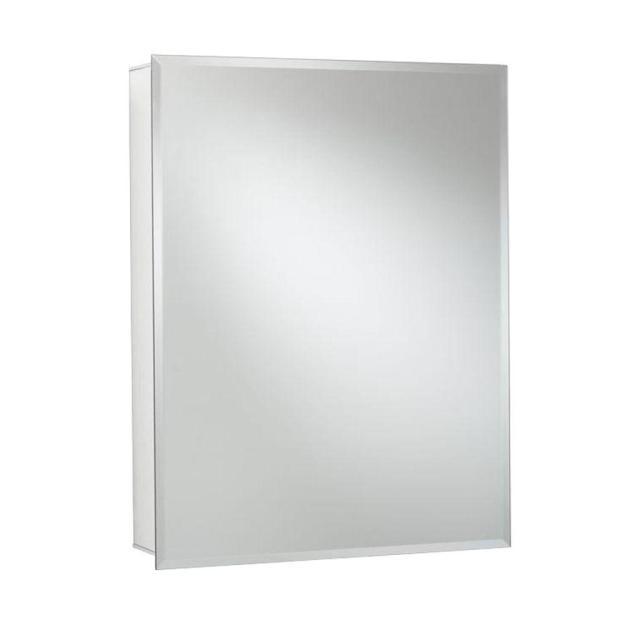 croydex 24 in. w x 30 in. h x 5-1/4 in. d frameless aluminum