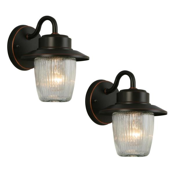 Hampton Bay Mission-style Bronze Outdoor Integrated Led