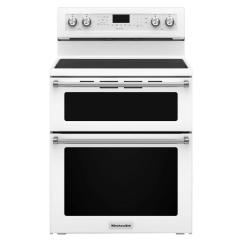 Kitchen Aid Stoves Lowes Kitchenaid 6 7 Cu Ft Double Oven Electric Range With Self Cleaning Convection In White