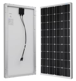 100 watt 12 volt monocrystalline solar panel for rv boat back  [ 1000 x 1000 Pixel ]