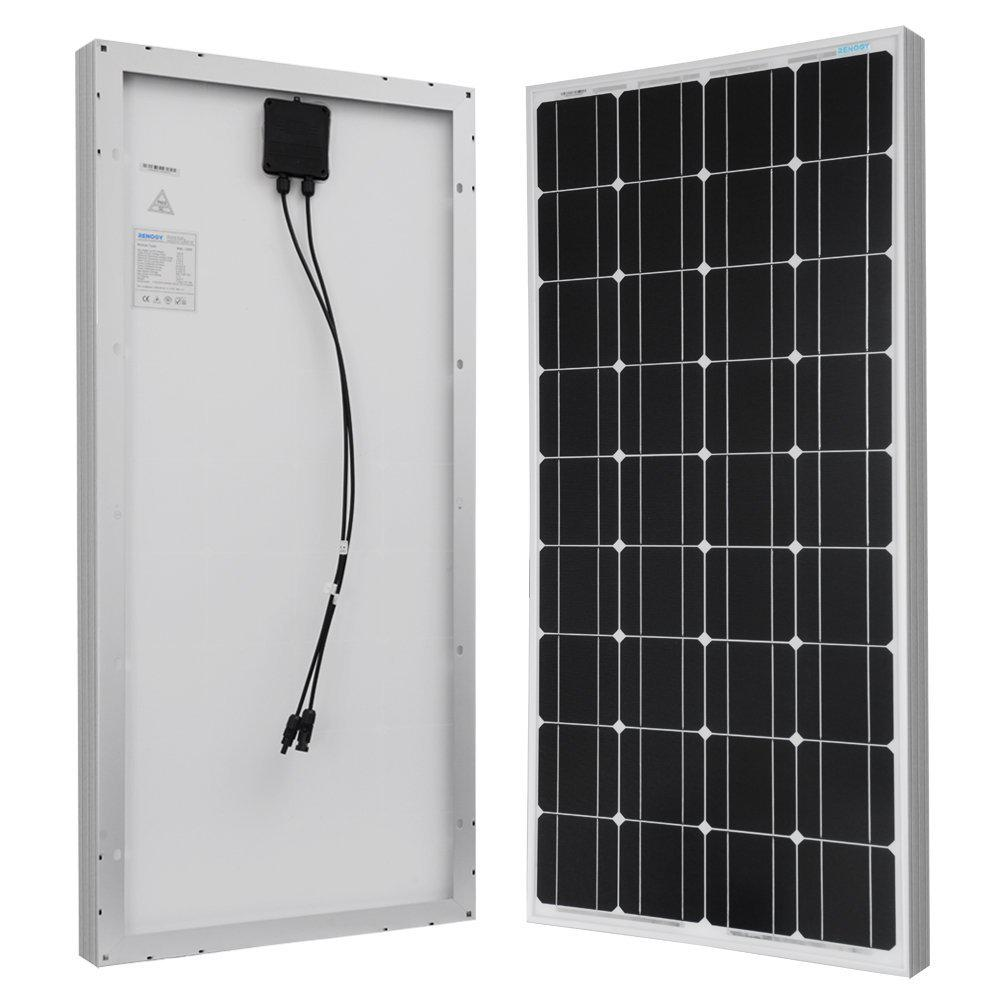 hight resolution of 100 watt 12 volt monocrystalline solar panel for rv boat back