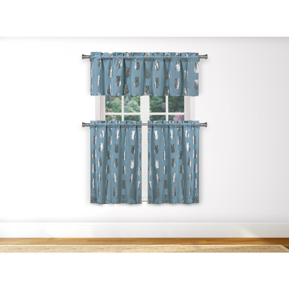 blue kitchen valance anti fatigue mat duck river alohi in silver 15 w x 58