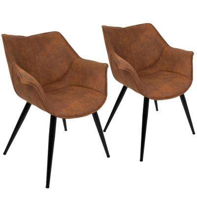 suede living room furniture ideas with corner tv faux the home depot wrangler rust accent chair set of 2