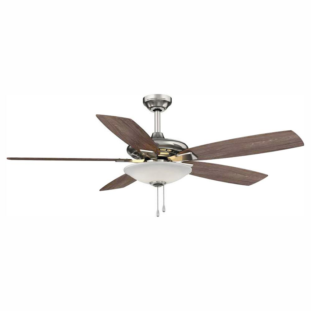 medium resolution of integrated led indoor low profile brushed nickel ceiling fan with light kit