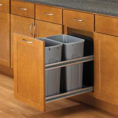 Kitchen Garbage Honest Keen Pull Out Trash Cans Cabinet Organizers The Home Depot 18 In H X 15 W 22 D
