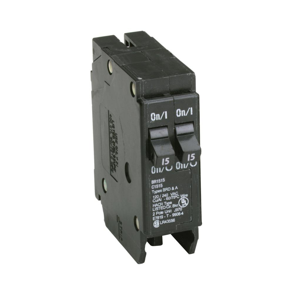 hight resolution of eaton br 2 15 amp single pole tandem non ctl circuit breaker
