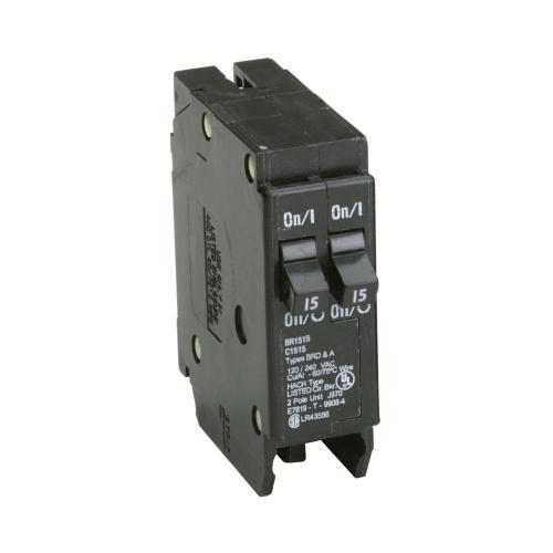 small resolution of eaton br 2 15 amp single pole tandem non ctl circuit breaker